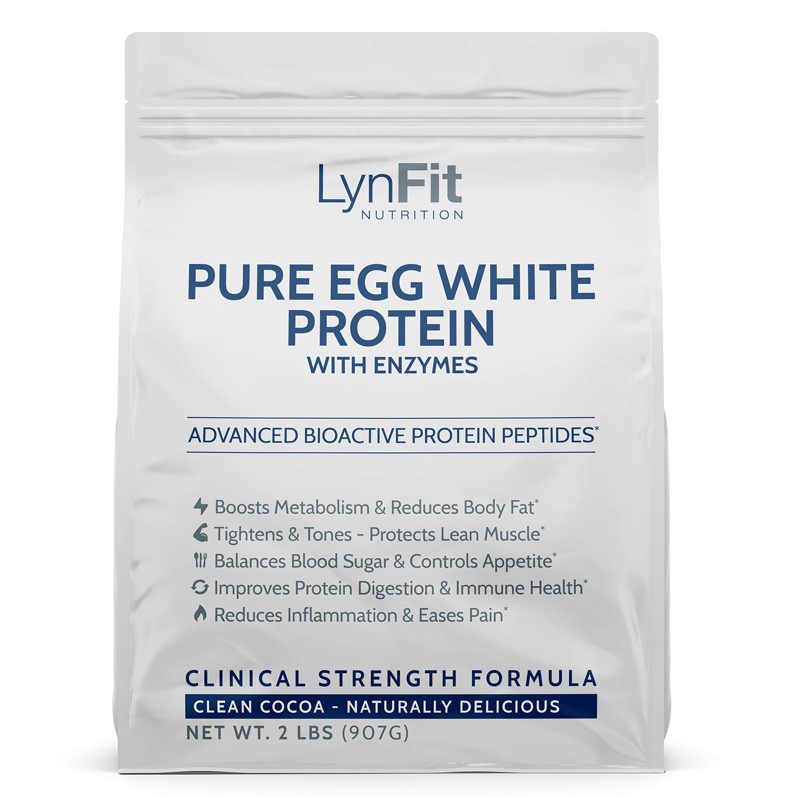 All-Natural, Metabolic Boosting Egg White Protein Powder - Clean Cocoa - 2 Pounds