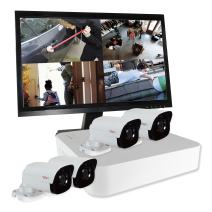 REVO America RU41B4GM22-1T Ultra HD 4-CH 1TB NVR Surveillance System with 4 x 4 Megapixel Bullet Cameras (White)