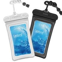 Water Proof Cell Phone Pouch, Universal Waterproof Phone Case, 100ft IPX8 Waterproof Bag, Anti-Break Lanyard, Floating Waterproof Pouch for iPhone X, 8, 8P, 7, 7P, Device up to 6.5 inches (2 Pack)
