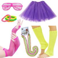 iLoveCos Womens 80s Costume Accessories Fancy Outfit