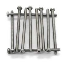 (10 pc) M5-0.8x80 mm Pan Head Phillips Machine Screws,18-8 Stainless Steel by Fullerkreg