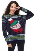 Unisex Women's Christmas Sweater Ugly Cat Pullover Classic Funny Knitted Santa Reindeer, XX-Large
