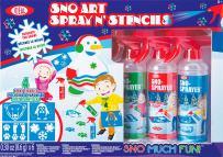Ideal Sno Toys Sno Art Spray N' Stencil