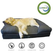 """LOAOL 4""""Durable Waterproof Memory Foam Pet Bed Mattress Orthopedic Dog Sofa Couch with Changeable Cover"""