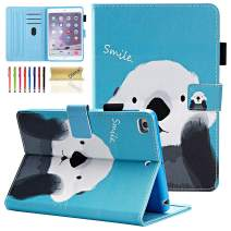Dteck iPad Mini 1/2/3/4 Case - Slim Fit Premium PU Leather [Multi-Angle View] Folio Stand Wallet Cover with Auto Wake/Sleep Smart for Apple iPad Mini 1/Mini 2/Mini 3/Mini 4, Cute Bear