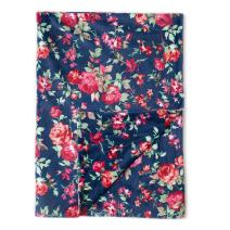 """Kids N' Such Minky Baby Blanket 30"""" x 40"""" - Navy Floral - Soft Swaddle Blanket for Newborns and Toddlers - Best for Girl Crib Bedding, Nursery, and Security - Plush Double Layer Fleece Fabric"""