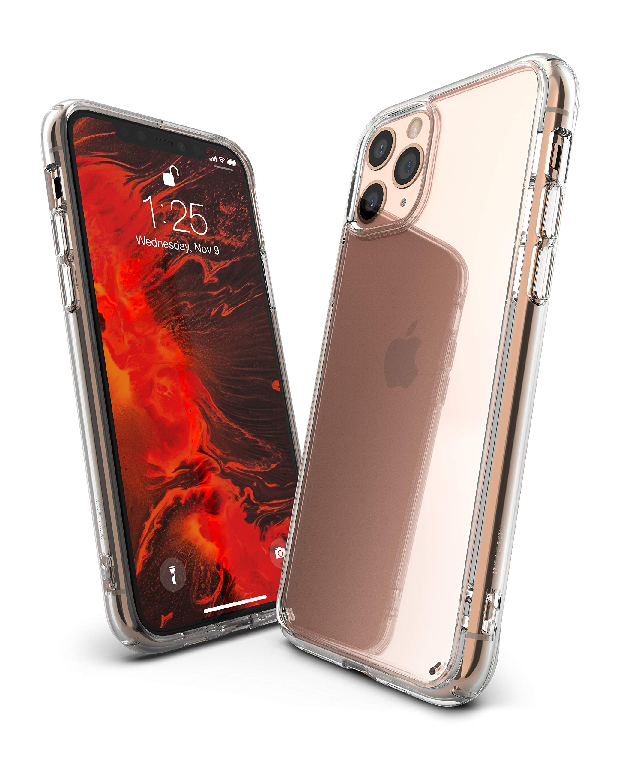 """Ringke Fusion Case Made for iPhone 11 Pro (5.8"""") (2019) Tough Impact Alleviation Technology Raised Bezel Shield for iPhone 11 Pro Case Cover - Clear Transparent"""