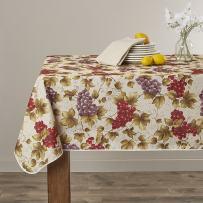 "European Vineyard Tablecloth Beige 60"" X 102"""