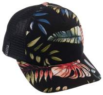 FLVFF Trucker Hat Floral Print Mesh Baseball Cap Adjustable Dad Hats for Women & Men Moldable Brim