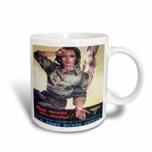 3dRose Vintage Needed Us Army Nurse Corps Recruiting Poster Mug, 15 oz, Ceramic