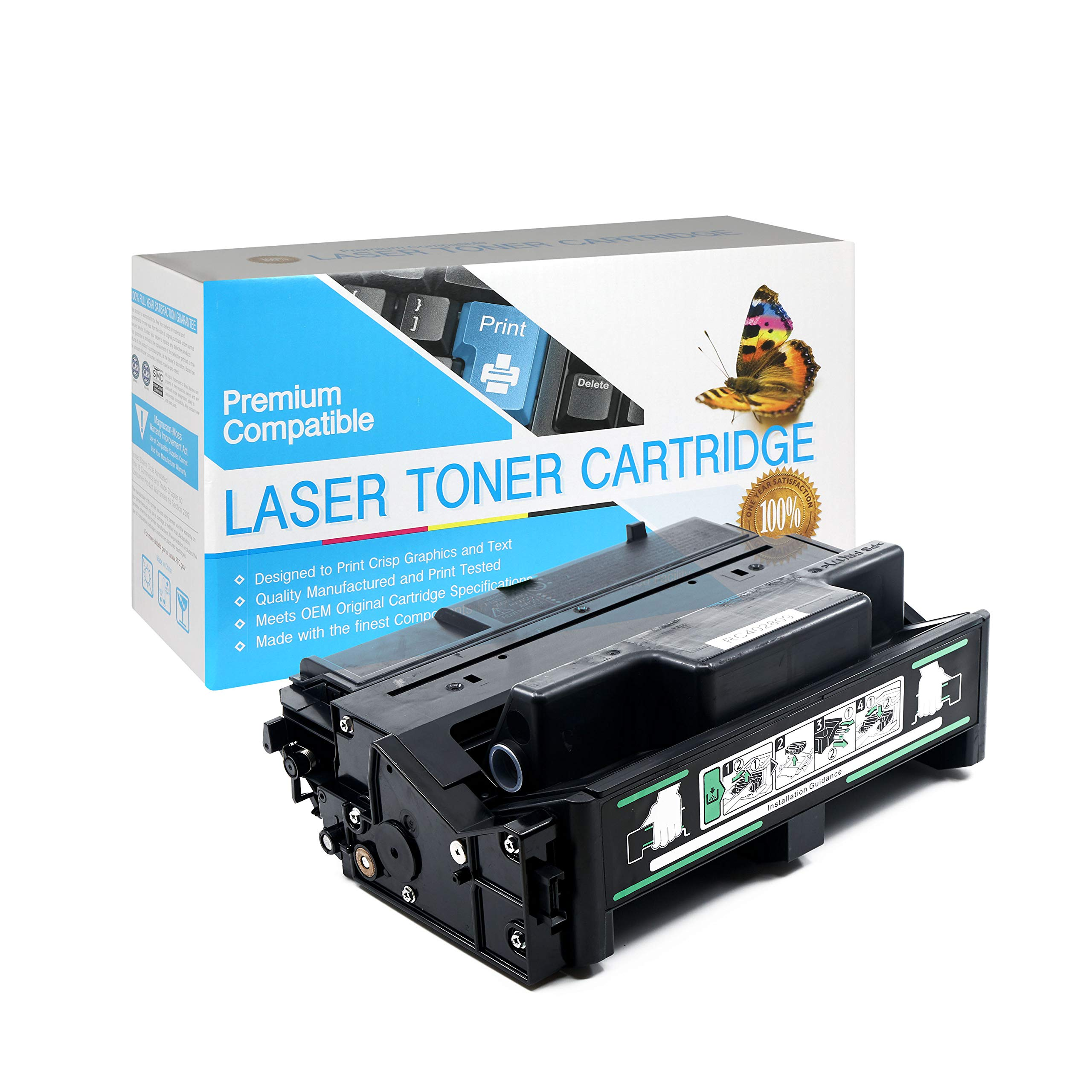 SuppliesOutlet Remanufactured Toner Cartridge Replacement for Ricoh Type 120/402809 / 406997 (High Yield Black,1 Pack)