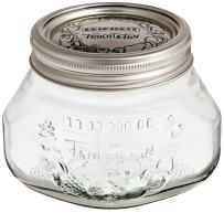 Leifheit 36103 2-Cup Preserve Jar, 1/2-Liter, Set of 6