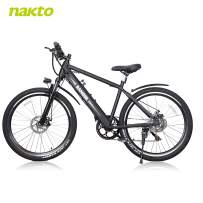 BRIGHT GG 26'' Electric Bike 6-Speed Ebike Mountain Elctric Bicycle with 300W Bushless Motor and 36V 10Ah Lithium Battery,Lock and Charger