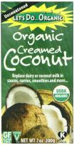 Let's Do Organic Creamed Coconut, 7-Ounce Boxes (Pack of 2)