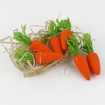 WEWILL Beautiful Lifelike Orange Foam Carrots Vegetable Ornament Bunny Girl Gift Decoration Easter Party Decor (Pack of 6)