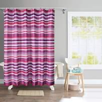 Deco Window Shower Curtain - Waterproof with 12 Hooks for Shower, Bathtub 71x71 (Multi Amethyst)