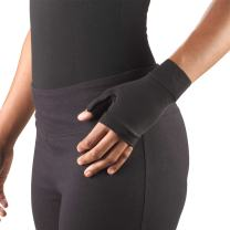Truform Lymphedema Compression Gauntlet, 20-30 mmHg Post Mastectomy Support, Black, Small