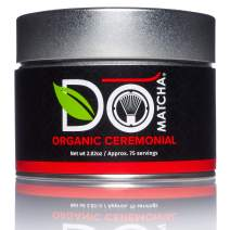 DoMatcha - Organic Ceremonial Green Tea Matcha Powder, Natural Source of Antioxidants, Caffeine, and L-Theanine, Promotes Focus and Relaxation, Kosher, 75 Servings (2.82 oz)