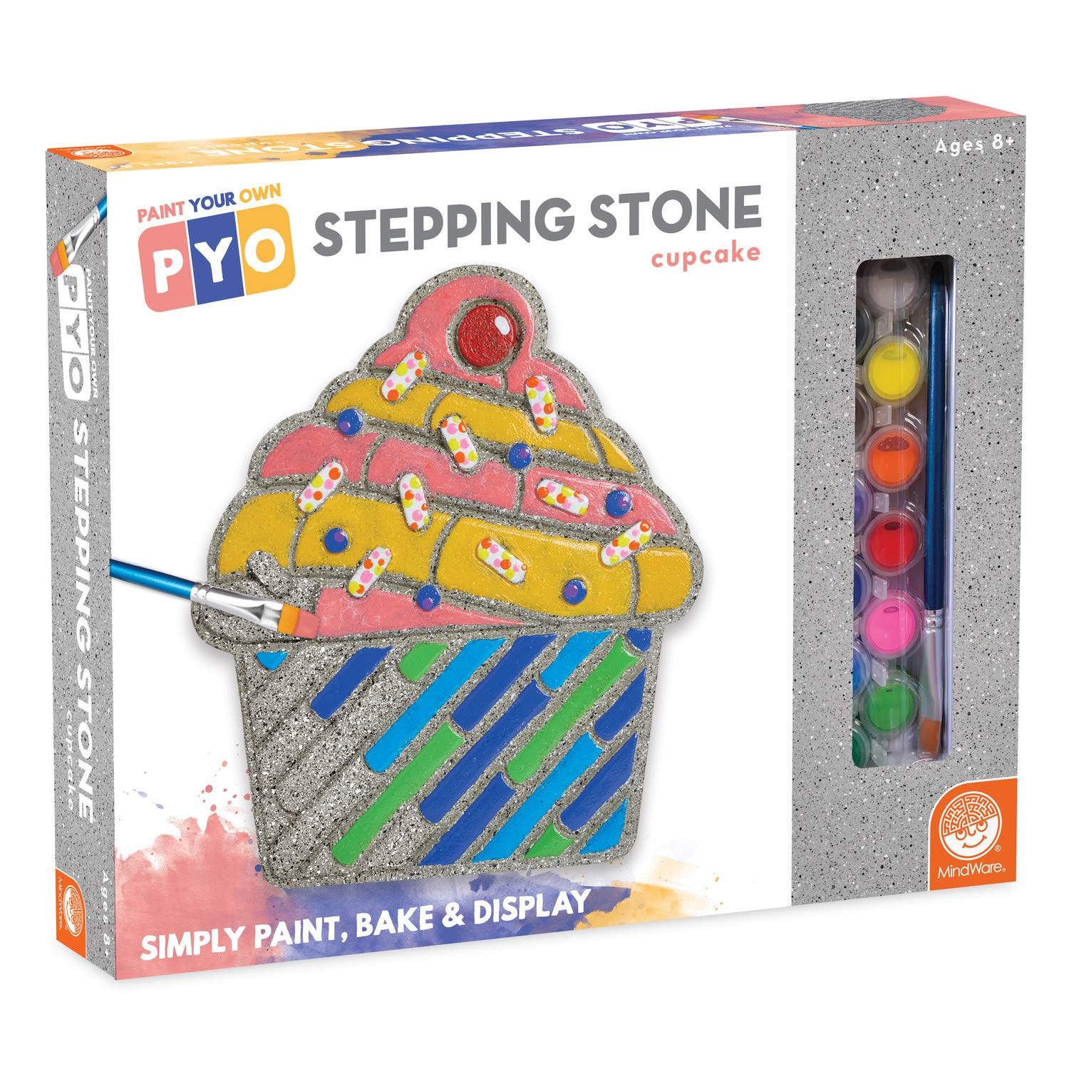 MindWare Paint Your Own Stepping Stone Cupcake