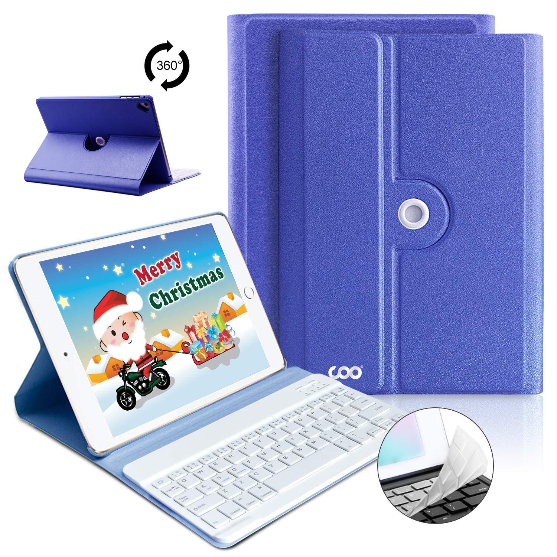 iPad Keyboard Case 9.7 for iPad 2018 (6th Gen), iPad 2017(5th,Gen), iPad Pro 9.7, iPad Air 1/2 Slim Leather Folio Cover with Wireless Bluetooth Keyboard (Royal Blue)
