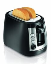 Hamilton Beach 2 Slice Extra Wide Slot Toaster with Keep Warm & Bagel Settings, Shade Selector, Toast Boost, Auto-Shutoff and Cancel Button, Black (22810)