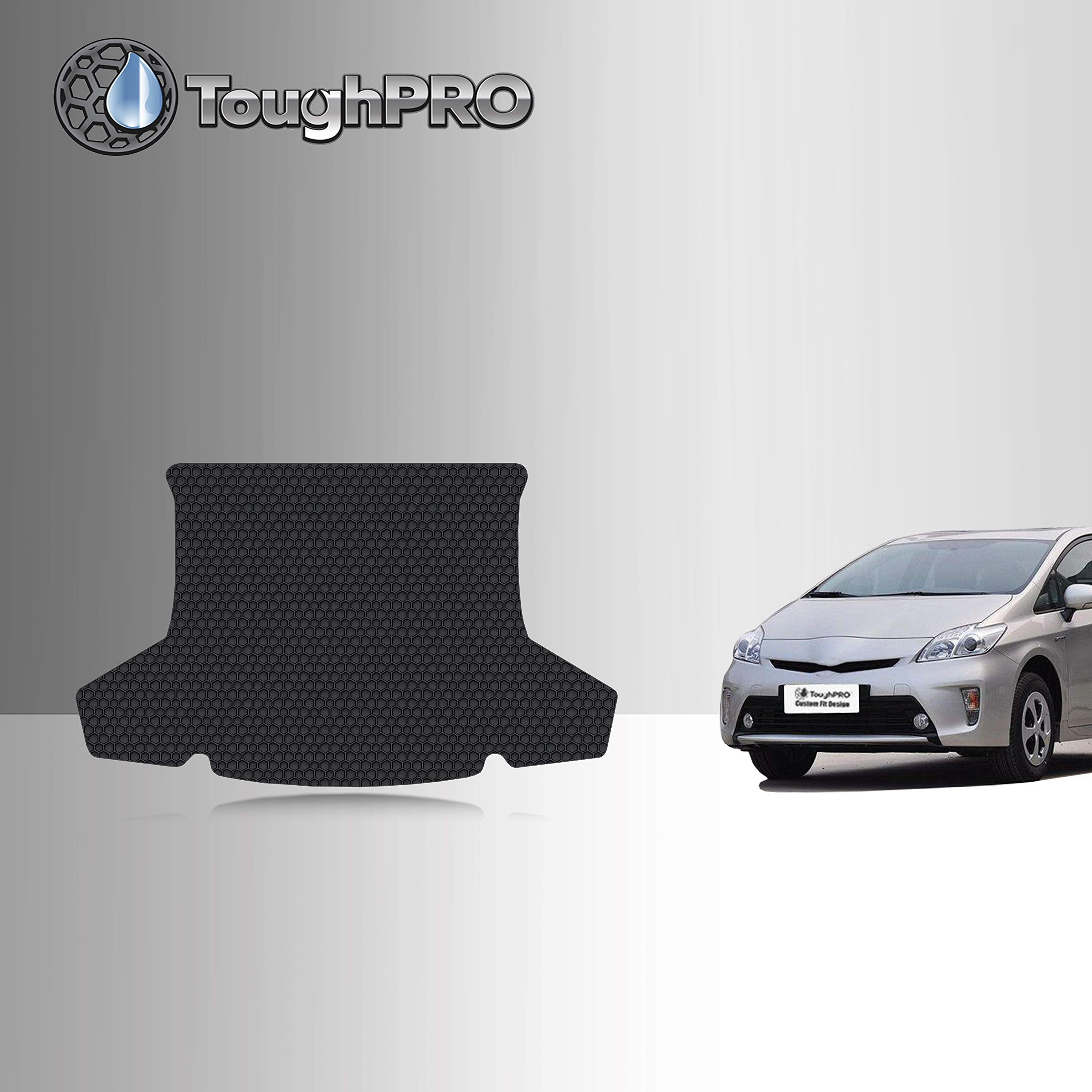 TOUGHPRO Cargo/Trunk Mat Accessories Compatible with Toyota Prius - All Weather - Heavy Duty - (Made in USA) - Black Rubber - 2010, 2011, 2012, 2013, 2014, 2015