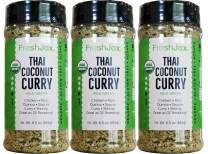 FreshJax Gourmet Thai Coconut Curry Green Mild Large 6.5 oz (3 pack)