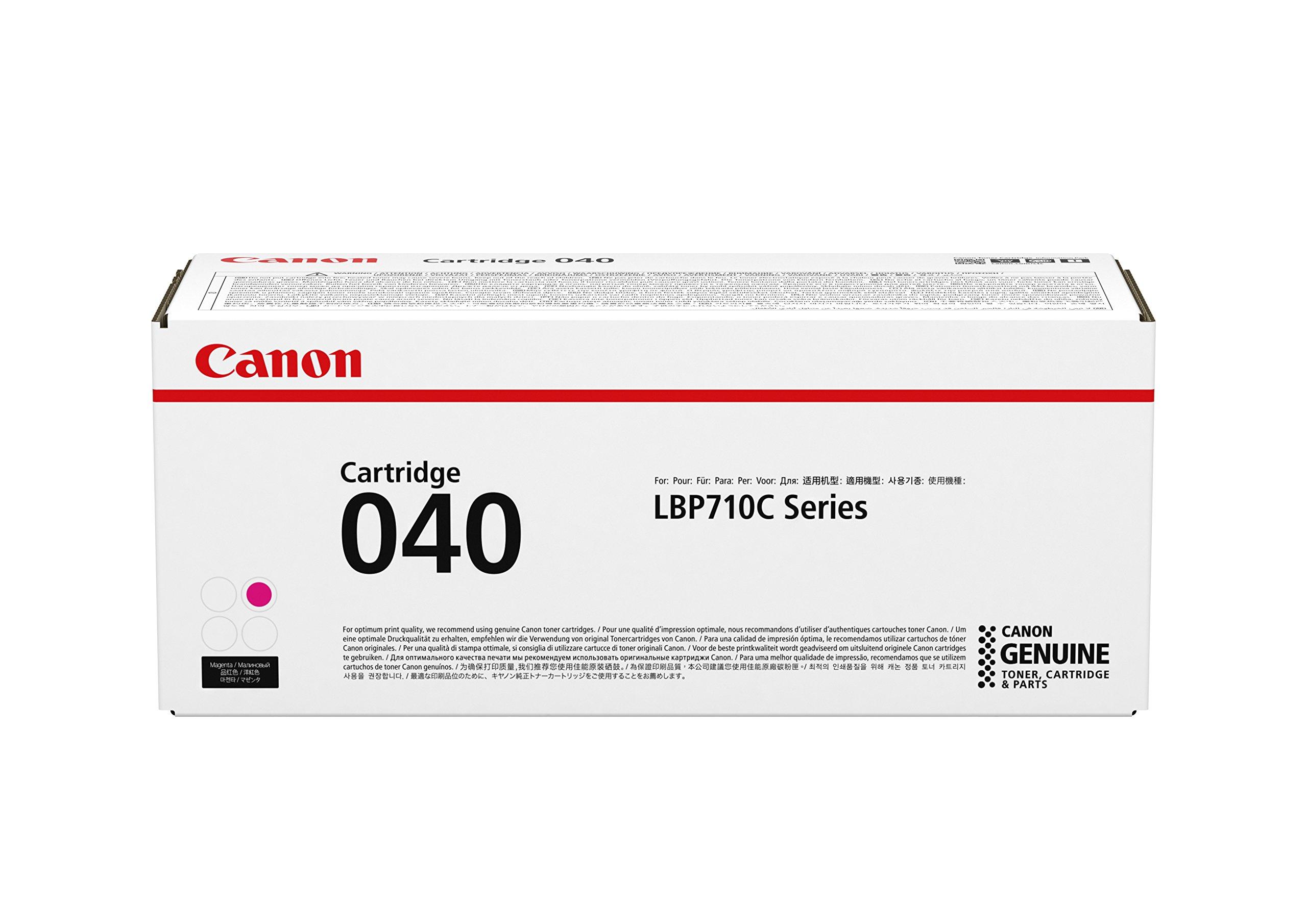 Canon Genuine Toner, Cartridge 040 Magenta (0456C001), 1 Pack, for Canon Color imageCLASS LBP712Cdn Laser Printer