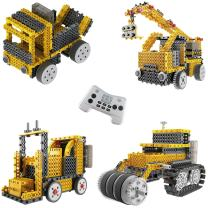 Build Your Own Robot Toys for Kids – Ingenious Machines Remote Control Robot Building Kit (Crane, Forklift, Bulldozer & Truck) Robot Toys for Boys Aged 6 7 8 9+