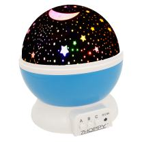 Night Lights for Boys, ZHOPPY Star and Moon Starlight Projector Bedside Lamp for Baby Room Kids Bedroom Decorations - Birthday Gifts for Boys, Blue