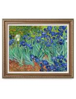 DECORARTS - Irises in The Garden, Vincent Van Gogh Art Reproduction. Giclee Print& Framed Art for Wall Decor. 30x24, Framed Size: 35x29