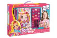Make It Real - Sunny Day Glitz and Glam Makeup Set. First Time Design and Makeup Starter Set for Little Girls Includes Nickelodeon's Sunny Day Sketchpad for Inspiration