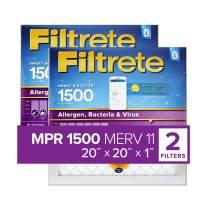 Filtrete 20x20x1 Smart Replenishable AC Furnace Air Filter, MPR 1500, Allergen, Bacteria & Virus, 2-Pack