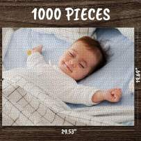 Personalized Custom Photo Jigsaw Puzzle for Adults 1000 Pieces Custom Picture Puzzles DIY Puzzles from Photos Toys Birthday Gift Large Piece for Adults, Men, Women, Boys, Girls, Kids