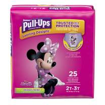 Pull-Ups Learning Designs for Girls Potty Training Pants, 2T-3T  (18-34 lbs.), 25 Ct. (Packaging May Vary)
