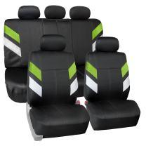 FH Group Neoprene Seat Covers Full Set Airbag Safe FB086GREEN115 (Semi-Universal Modern Edge)