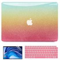 B BELK MacBook Air 13 Inch Case 2021 2020 2019 2018 Release A2337 M1 A2179 A1932, 3D Rainbow Colorful Smooth Snap on Plastic Hard Protective Case with Keyboard Cover, MacBook Air 2020 Touch ID Retina
