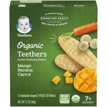 Gerber, Organic Teething Wafers, Mango Banana Carrot, 1.7oz