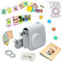 Quality Photo Instant Camera 12-Piece Accessories Kit Bundle for Fujifilm Instax Mini 8 & Mini 9 Camera Includes; Case W/Strap, Lens Filters, Photo Album & Frames + More (Smokey White)