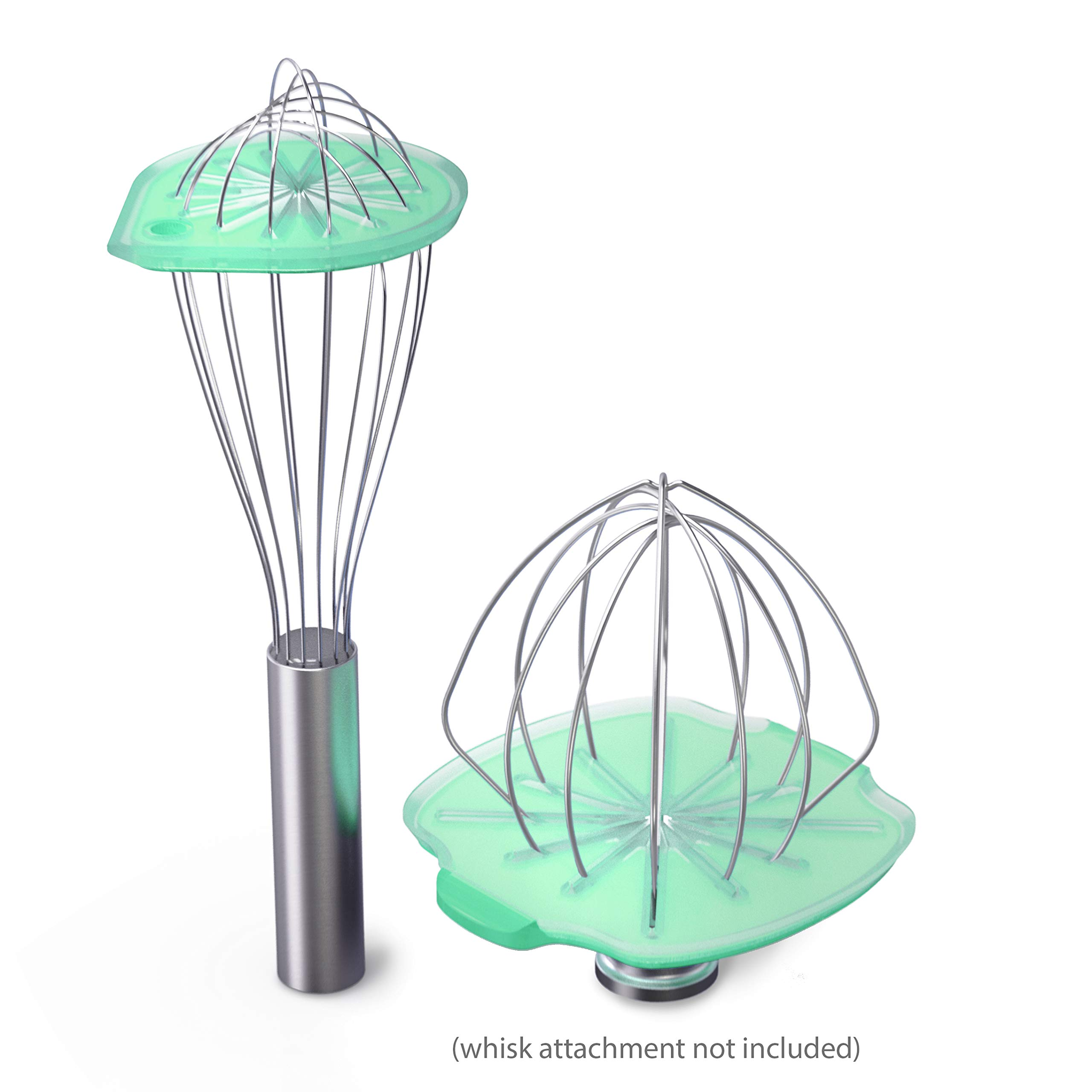 Whisk Wiper 3pc Trio - Mix Without The Mess - Revolutionary Kitchen Accessory - A Great Gift - Includes Whisk Wiper PRO for Tilt-Head Stand Mixer (4.5 & 5qt), Whisk Wiper set (Color: Aquamarine)