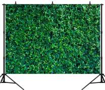 DePhoto 9X6FT Green Leaves Backdrop Birthday Party Banner Seamless Vinyl Photography Photo Background Studio Prop PGT516B