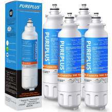 PUREPLUS ADQ73613401 Replacement for Kenmore Elite 9490, LG LT800P, ADQ73613402, ADQ736134 469490 LSXS26326S LMXC23746S LMXC23746D FL-RF20, RWF3500A WS620A LMXS30776D Refrigerator Water Filter, 4Pack
