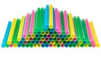 """Jumbo Smoothie Straws Extra Wide - Individually Wrapped 100 Pack, BPA Free Milkshake Straw 0.47"""" Multi Colored Large Disposable For Boba Tea - by DuraHome"""