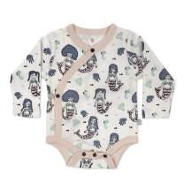 Finn + Emma Organic Cotton Long Sleeve Baby Bodysuit – Mermaids, 6-9 Months