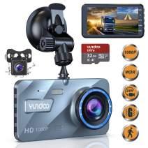 "Dual Dash Cam Car Camera - Contain 32GB SD Card,Full HD 1080P Dash Camera for Cars,4""IPS Screen Dual Wide Angle Lens Car Dash Camera,G-Sensor,Cycle Recording"
