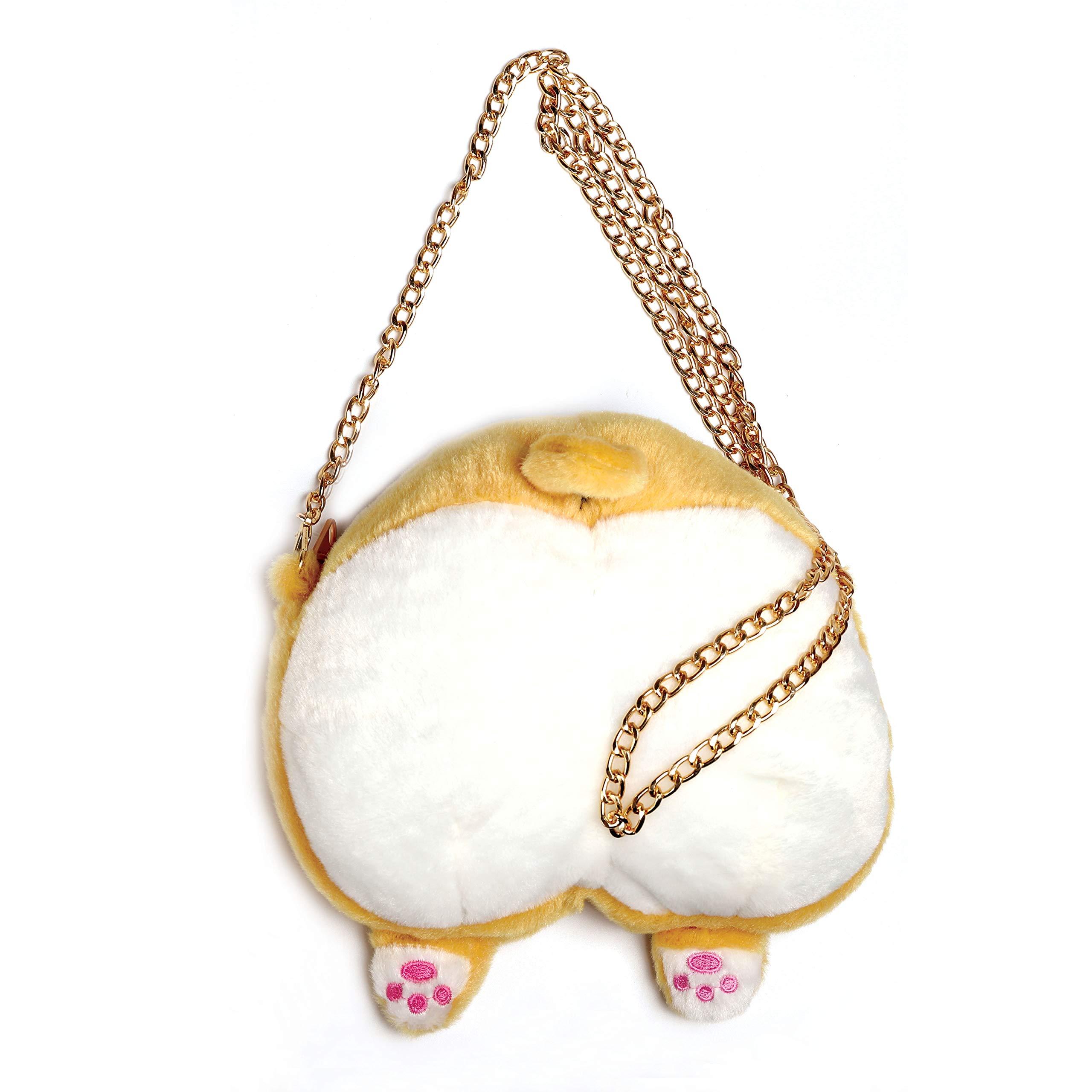 ANJUU Corgi Butt Handbag Cute Animal Corgi Butt Chain Bags Puppy Shoulder Bag for Kids Girls Women Birthday Gift