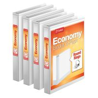 Cardinal 3 Ring Binder, 1 Inch, Round Ring, White, 4 Pack, Holds 225 Sheets (79510)