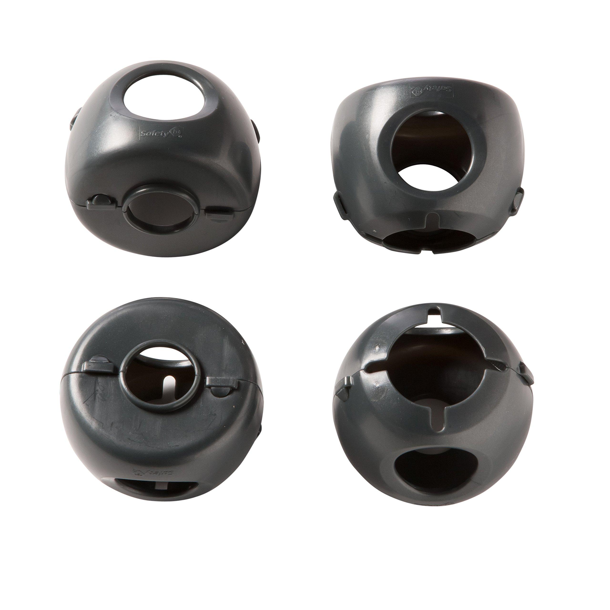Safety 1st Grip N' Twist Door Knob Covers Decor, 4-Count