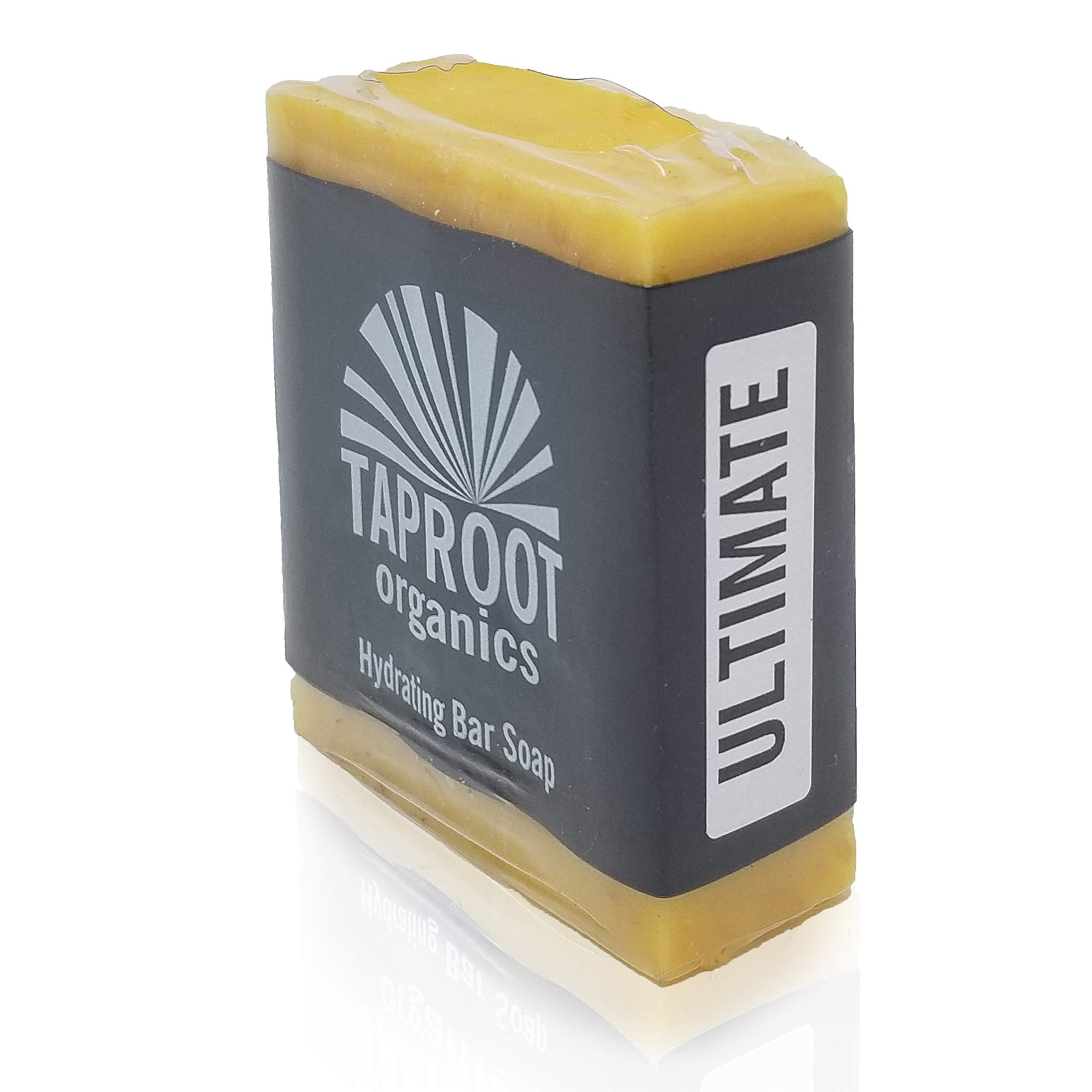 TAPROOT ORGANICS - ULTIMATE SHEA Cold Process Bar Soap for Healthier Sensitive Skin. Handmade with Coconut Oil, Olive Oil and 20% Raw Shea Butter, Body and Face soap for the ENTIRE FAMILY! (Vegan)