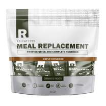 Individual Meal Replacement Powder Packets by Live Relentless Nutrition - Meal Replacement Protein Powder Packets to Help with Muscle Recovery & Muscle Growth with Probiotics* (Maple Cinnamon 15 Pack)